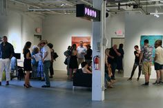 Visitors to PROTO Gallery attending the WE ARE WHAT THE SEAS HAVE MADE US opening reception