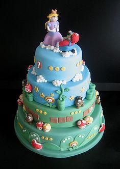 Super Mario wedding cake.