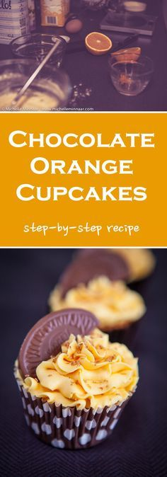 Now you dont just have to eat Britains beloved chocolate orange in its plain form, you can now enjoy it as a cupcake! Click through for the recipe. Gourmet Recipes, Sweet Recipes, Baking Recipes, Cupcake Recipes, Cupcake Cakes, Dessert Recipes, Gourmet Cupcakes, Christmas Baking, Christmas Treats