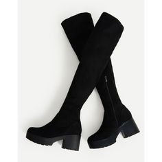 fcd7335b8f4 Side Zipper Over Knee Platform Boots (201465 PYG) ❤ liked on Polyvore  featuring shoes