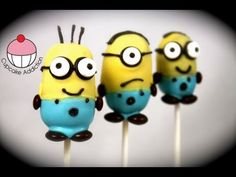 Despicable Me 2 Cake pops! – Make Minions Cakepops – A Cupcake Addiction How To Tutorial | Meals TV
