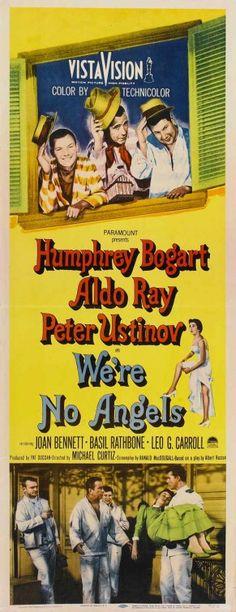 """We're No Angels"" (1955) Humphrey Bogart, Peter Ustinov, Aldo Ray"