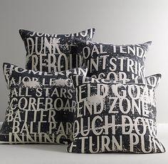 Sports Talk Decorative Pillow Cover & Insert