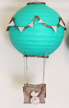 Easy-to-make hot air balloons are the perfect accessory for any room → http://youtu.be/KF9pRu-AaU8