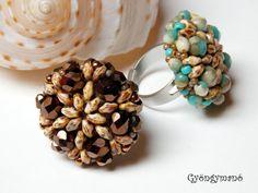 Ring Tutorial Beaded Jewellery Instruction by GymsJewelry