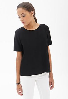 Boxy Woven Tee | FOREVER21 - 2000121688