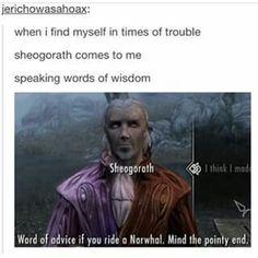 Words of Wisdom from Sheogorath