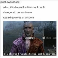 Words of Wisdom from Sheogorath