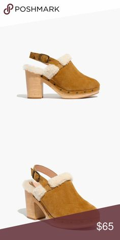 bda3aa21659c Lesley Shearling slingback clogs Great condition with box! Worn 1-2 ...