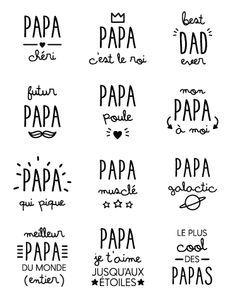 A imprimer pour la fête des pères Silhouette Portrait, Silhouette Cameo, Sketch Note, Journaling, Fathers Day Crafts, Mother And Father, Mothers, Bullet Journal, Messages