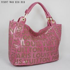 Louis Vuitton women M95097 Python Wine