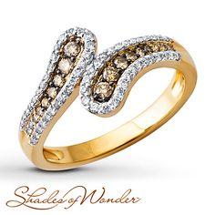 Shades of Wonder Ring 3/8 ct tw Diamonds 10K Yellow Gold