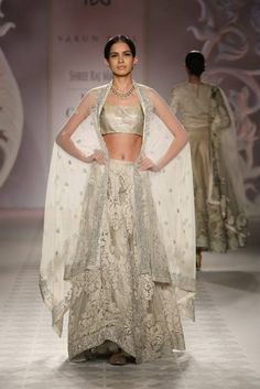 Varun Bahl India Moderne Collection Off-White #Lehenga At ICW 2014.