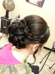 Gorgeous updo, curls + braid, prom 2014