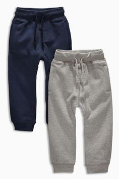 Buy Navy/Grey Joggers Two Pack from the Next UK online shop Boy Fashion, Mens Fashion, Preppy Boys, Grey Joggers, Next Uk, Toddler Outfits, Uk Online, Latest Fashion For Women, Bebe