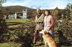 Queen Elizabeth and Prince Philip at their Balmoral estate in the Scottish Highlands