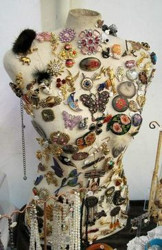 Vintage Dress forms make great Jewelry displays and a great piece of artwork too!
