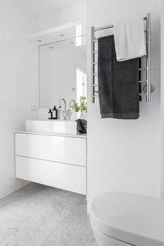 Skönt med golvvärme och handdukstork