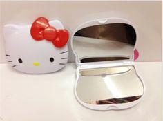 Hello kitty KT head folding compact mirror great for diy bling Compact Mirror, Mirrors, Craft Supplies, Hello Kitty, Bling, Apple, Diy, Crafts, Apple Fruit