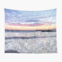 """""""Ocean Vintage Sparkly Aesthetic"""" Tapestry by ind3finite   Redbubble Tapestry Bedroom, Tapestry Wall Hanging, Thing 1, Beach Aesthetic, Tapestry Design, Ocean Waves, Textile Prints, Sell Your Art, Top Artists"""