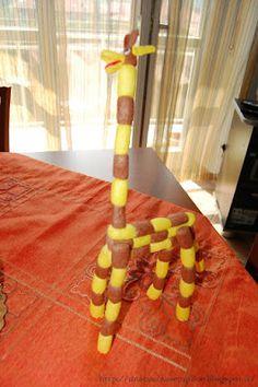 Tante piccole idee realizzate: Costruire con i mattoncini ecologici: la giraffa