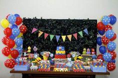 decoracao festa infantil, decoracao festa galinha pintadinha, festa 1 ano, mesa…