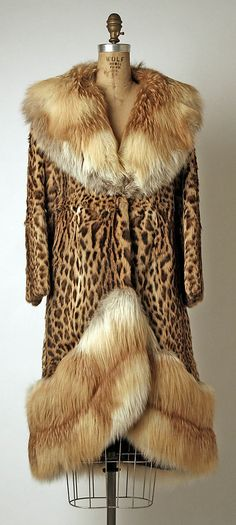 1970s Ocelot & red fox fur coat (Metropolitan Museum of Art)