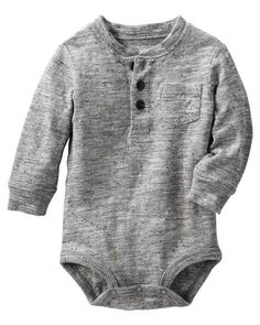 Baby Boy Henley Bodysuit from OshKosh B'gosh. Shop clothing & accessories… Baby Boy Henley Bodysuit von OshKosh B & # gosh. Baby Outfits, Toddler Girl Outfits, Kids Outfits, Girl Toddler, Kids Clothes Boys, Cute Baby Clothes, Babies Clothes, Babies Stuff, Niñas Carters Baby