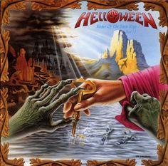 Title: Keeper Of The Seven Keys Part II (1988) Band: Helloween. Art Design: Edda and Uwe Karczewski.