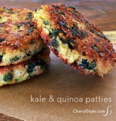 Rubbery-tasting veggie burgers are so five minutes ago! Make our super-yummy kale & quinoa patties for dinner. - Everyday Dishes & DIY