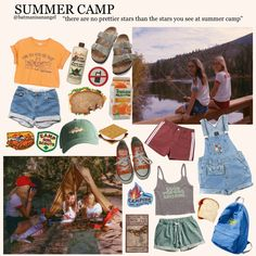 I remember getting 5 minutes to shower and being freezing cold at night. 'Twas… I remember getting 5 minutes to shower and being freezing cold at night. 'Twas a fun experience tho Camping Aesthetic, Summer Aesthetic, Aesthetic Fashion, Aesthetic Clothes, Zooey Deschanel, Summer Camp Outfits, Summer Camp Packing, Spring Outfits, Preppy Outfits