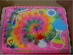 Mad Science Cake for a Girl
