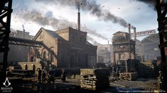 This is the Industrial Architecture kit for Assassins Creed Syndicate The kit was built to support fully climbable exteriors/ interiors and consists of numerous unique buildings and hundreds of modules. The following images feature the some of the buildings in London.  The Industrial kit was also used for more custom buildings throughout the game. Most notably during the initial part of the game, the Southwark District and the child Liberation Missions. All with interiors.  I was…