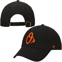 Baltimore Orioles  47 Brand Basic Logo Clean Up Adjustable Hat - Black -   21.99 Clean f1c6a175f16