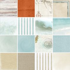 Coastal Collection Biggie Digital Scrapbooking Kit by Brandy Murry | ScrapGirls.com