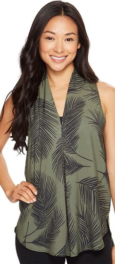 Lucy Transcend Sleeveless (Rich Olive Palm Print) Women's Sleeveless - Lucy, Transcend Sleeveless, LU0A3BHL5RV, Apparel Top Sleeveless, Sleeveless, Top, Apparel, Clothes Clothing, Gift, - Fashion Ideas To Inspire