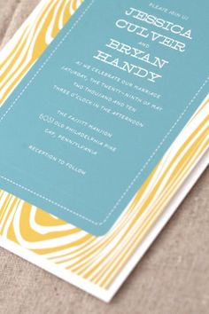 colorful woodgrain invitation