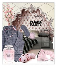 """Victorias secret pyjamas party"" by keydon ❤ liked on Polyvore featuring Haute House and Victoria's Secret"