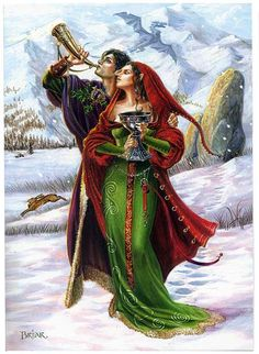 Yule/Winter Solstice : Cards by Occasion / Recipient : Home : Pagan/spiritual and fairy/fantasy greeting cards, prints and gifts at Moondragon Yule, Samhain, The Longest Night, Les Religions, Sabbats, Winter Solstice, Book Of Shadows, Wiccan, Witchcraft