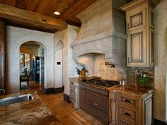 Photo of Brown Tuscan Dining Room project in Denver, NC by Walker Woodworking