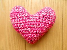 Pin Cushion - Pink & Blue Heart Pink Things, Pin Cushions, Bobs, Pink Blue, Heart, Crochet, Ganchillo, Bob Hairstyle, Crocheting