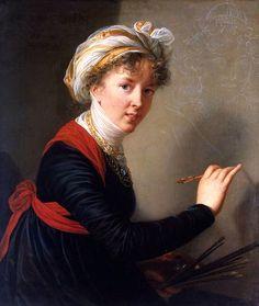 Self-portrait (1800). Louise Élisabeth Vigée Le Brun (French, 1755–1842). Oil on canvas. Hermitage Museum.