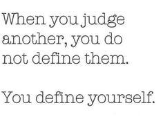 You define yourself