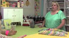 Take a Tour of Lori Holt's Home Studio. Lori's sewing room is so happy and cheery and organized! Look at all those wonderful vintage irons lined up behind her! Love this room!
