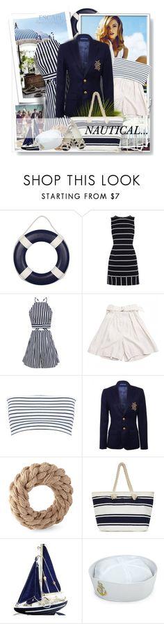 """Nautical Stripes..."" by desert-belle ❤ liked on Polyvore featuring Karen Millen, Isabel Marant, Miss Selfridge, Ralph Lauren, BC Footwear, Nautical and polyvoreeditorial"