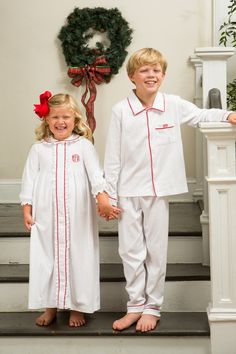 Holiday Pajamas by Crescent Moon Children Classic children's clothing line. Christmas Pjs, Holiday Pajamas, Kids Pajamas, Moon Child, Boutique Clothing, Smocking, Traditional, Children, Classic