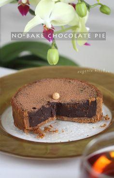No-Bake Chocolate Pie Recipe – 5-Ingredient Tart - Eugenie Kitchen
