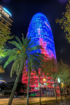 The Torre Agbar, or Agbar Tower, is a 38-story tower located between Diagonal and Carrer Badajoz, near Plaça de les Glòries Catalanes, which marks the gateway to the new technological district of Barcelona, Catalonia, Spain. It was designed by French architect  Jean Nouvel in association with the Spanish firm B720 Arquitectos and built by Dragados. The Torre Agbar is located in the Poblenou neighborhood of Barcelona and is named after its owners, the Agbar Group, a holding company whose…