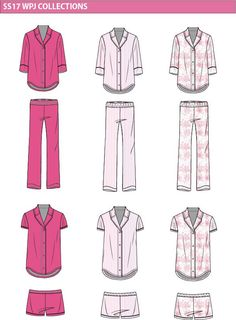women s marl pajama fashion flat template крой pinterest