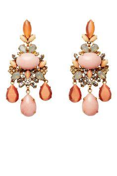 Pretty as a peach - AERIN Erickson Beamon earrings